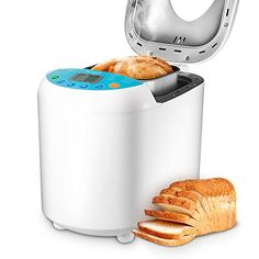 Homgeek Home Bakery Bread Machine 2.2 Pound with 19 Programmable Menus Setting and 15 Hours Preset,3 Crust Colors,White >>> Learn more by visiting the image link. #BreadMachines