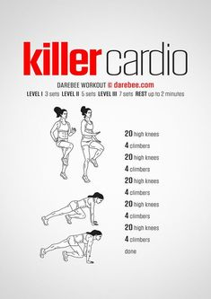 The best cardio workout you can do at home - body-workouts.Com The Best Cardio W. - The best cardio workout you can do at home – body-workouts.Com The Best Cardio Workout You Can To - Fitness Workouts, Fitness Herausforderungen, Cardio Yoga, Short Workouts, Cardio Workout At Home, Cardio Exercises At Home, Hitt Workout, Tabata Workouts, Quick Workout At Home