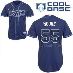 http://www.xjersey.com/rays-55-moore-dark-blue-cool-base-jerseys.html RAYS 55 MOORE DARK BLUE COOL BASE JERSEYS Only $43.00 , Free Shipping!