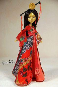 Jinafire OOAK by Olga Kamenetskaya and dress by Abris Doll
