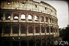 The Colosseum Rome vintage aged classical second by LJAPhotography, $30.00
