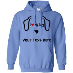 Personalized I Love My Dog - Hoodie