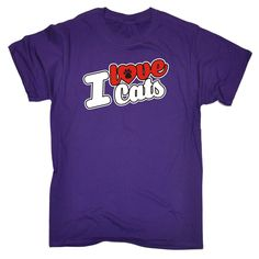 123t USA Men's I Love Cats Paw Heart Design Funny T-Shirt