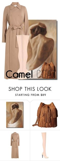 """""""the camel coat WORKS!"""" by chiqiyoly ❤ liked on Polyvore featuring JULIANNE, Carlos by Carlos Santana, Nina Ricci, Alexander McQueen and camelcoat"""