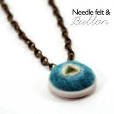 Needle Felt Jewelry! via @Johnnie Monico (Saved By Love Creations) Lanier
