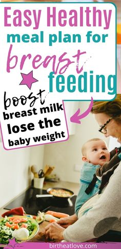 Learn how to make a breastfeeding meal plan that will help you eat healthy and produce more breast milk. Includes a breastfeeding meal plan sample pdf to print. Great breastfeeding menu plan for nursing mums! Easy Healthy Meal Plans, Diet Meal Plans, Easy Healthy Recipes, Eat Healthy, Frozen Fruit Smoothie, How To Breastfeed Newborns, Breastfeeding Snacks, Apple And Peanut Butter, Baked Avocado