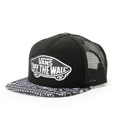 99504e46881e8 Star Wars x Vans Darth Bandana Print Trucker Hat