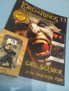 Collectors Hand Painted Lead Model Magazine LOTR Eaglemoss 13 Orc Soldier in Collectables, Fantasy/ Myth/ Magic, Lord of the Rings/ Tolkien   eBay