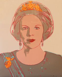 Queen Beatrix of the Netherlands 339 by Andy Warhol is part of the Reigning Queens series produced by Warhol in 1985. The portfolio consists of sixteen screenprints. Warhol depicts these four female monarchs in their own right, rather than as women who were married to a king.