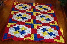 Big Top Crochet Quilt by C.L. Halvorson: http://www.ravelry.com/patterns/library/big-top-crochet-quilt
