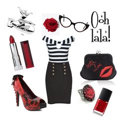 """""""Psychobilly"""" by kuriosum on Polyvore.  I want to be able to pull this look off... I've been told I could so i may try"""