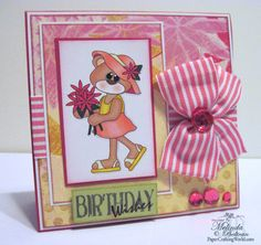 Card using the bear in sundress digi from PCW. Direct Link: http://www.papercraftingworld.com/item_803/Happy-Birthday-Bear-in-Sundress-Card.htm