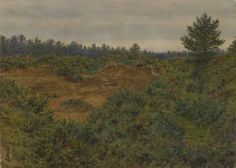 Sandpit near Abinger, Surrey by George Price Boyce, watercolor painting, 1866-7.