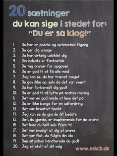 Reel og konkret ohg konstruktiv ros Coping Skills, Social Skills, Teaching Kids, Kids Learning, Danish Language, Hate School, Cooperative Learning, Study Motivation, Working With Children
