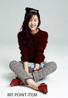 Hyomin T-ara Ceci Magazine October Issue 2013 love the burgundy