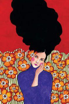 The Mask I Wear Is One Canvas Artwork by Hülya Özdemir Gravure Illustration, Art Et Illustration, Illustrations, Art Inspo, Inspiration Art, Canvas Artwork, Canvas Art Prints, Images D'art, Illustration Design Graphique
