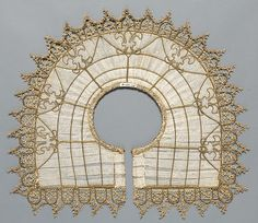 Italian Bobbin Lace ~ 16th century ~ collar with supportase ~ Metropolitan Museum of Art