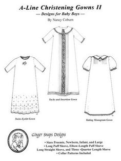 05efd4ee5 patterns Sewing Paterns, Smocking Patterns, Christening Gowns For Boys, Baptism  Outfit, Gown