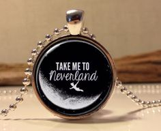 Peter Pan Jewelry, Peter Pan Necklace Peter Pan art pendant jewelry    This listing is for a handmade vintage style jewelry pendant. I make