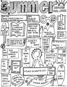 MizzSmiff's Art Room: Summer Drawing Challenge/Modify for sub