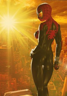 The Spectacular SPIDER-GIRL 'Sunset City' Series 3 by DevilishlyCreative Watch Digital Art / Mixed Media / Conceptual (show more) Comic Book Characters, Comic Character, Comic Books Art, Comic Art, Marvel Characters, Marvel Girls, Marvel Art, Marvel Dc Comics, Marvel Women