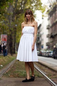 A pretty white dress is a statement unto itself.