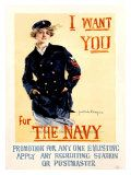 Vintage WWII Navy Recruit Poster Giclee Print