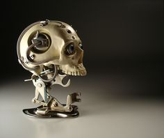 Miniature Biomechanical Skull - Ver. 3, 2004! Christopher Conte