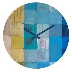 Medium Deny Designs Rebecca Allen at Midnight Quatrefoil Clock