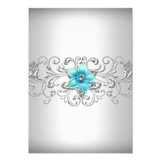 Teal Silver Floral Swirl Sweet 16 Invitation #Ad , #ad, #Swirl#Sweet#Floral#Shop Sweet 16 Birthday, 16th Birthday, Birthday Parties, Sweet 16 Invitations, Birthday Invitations, Shops, Party Stores, Swirl Design, Paper Design