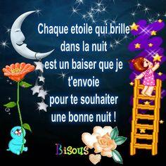 Image du Blog latanierededilou.centerblog.net Good Night Love You, Citations Souvenirs, Image Fb, Spring Tutorial, Evening Quotes, Dream Night, Tu Me Manques, Dear Self, Happy Friendship