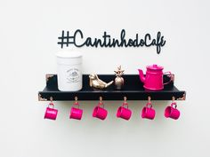 Coffee Bar Home, Nail Designer, Rose Gold, Bar Areas, Decoration, Tea, Pink, Instagram, Home Decor