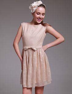 lovely short nude dress