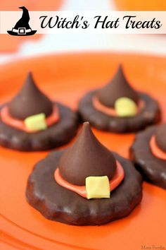 Witch's Hat Treats - easy Halloween party food