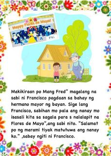 Teacher Fun Files: Maikling Kwento: Si Francisco Magalang Moral Stories For Kids, Short Stories For Kids, Kids Story Books, Reading Comprehension For Kids, Reading Passages, Tagalog, Cvc Words, Reading Material, Best Teacher