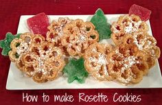 Rosette Cookie Recipe - Learn how to make rosette cookies - step by step instructions. #christmas #cookies