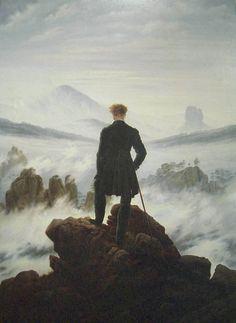 """Caspar David Friedrich's amazing painting """"Der Wanderer über dem Nebelmeer""""."""