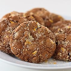 chocolate cookies with dark chocolate chips and orange zest.