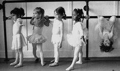 Little Ballerinas. Oops one is a monkey
