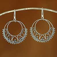 Sterling silver dangle earrings, 'Bali Shines'