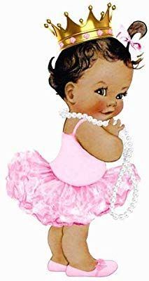 "9"" Tall African American Afro Baby Girl Princess Pink Tutu Image Edible Frosting Cake Topper African American Babies, American Baby, Baby Girl Princess, Baby Shower Princess, Baby Shower Centerpieces, Baby Shower Decorations, Mommy Tattoos, Black Girl Art, Baby Images"