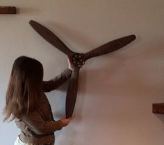 Airplane propeller by ConceptWoodWorks on Etsy