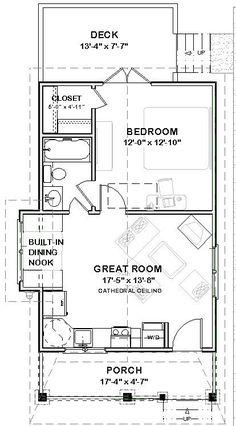 Br House, Tiny House Cabin, Tiny House Living, Tiny House Design, Small House Floor Plans, Cabin Floor Plans, Tiny Cabin Plans, Bedroom Layouts, House Layouts