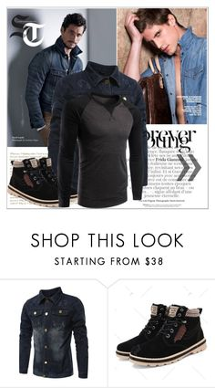 """Rosegal 78/ III"" by emina-095 on Polyvore featuring men's fashion, menswear, polyvoreeditorial and rosegal"