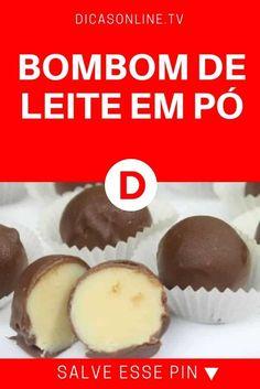 Bombom de leite em pó | BOMBOM DE LEITE EM PÓ | Para quem busca uma sobremesa gostosa ou até um complemento de renda! Confira!