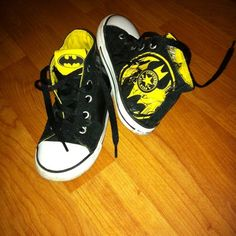 Converse High Top All Star Sneakers Shoes Black Batman Toddler Boy Size 10 | eBay