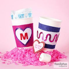 Treat a teacher to a warm sip and a reusable cup cozy with this thoughtful #Valentine (via @FamilyFunmag ).