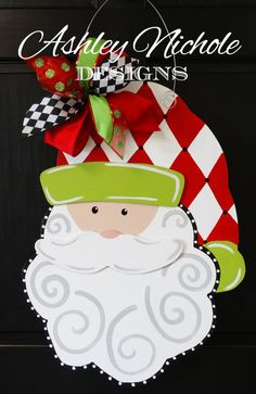 Ho Ho Ho! Our whimsical Santa is a timeless and classy piece. It would be a beautiful piece adorning your door or as decor inside your home.
