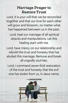 Marriage Prayer to Restore Trust Prayer For My Marriage, Couples Prayer, Fighting For Your Marriage, Marriage Help, Godly Marriage, Faith Prayer, Marriage Relationship, Love And Marriage, Marriage Advice
