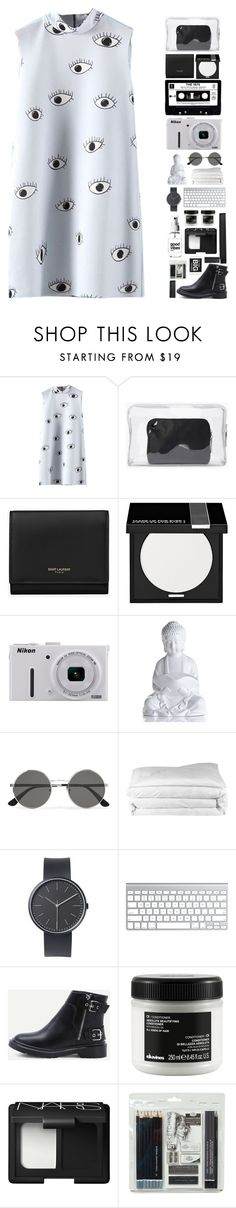 """what a wonderful world."" by ashola18 ❤ liked on Polyvore featuring 3.1 Phillip Lim, Yves Saint Laurent, MAKE UP FOR EVER, Nikon, Frette, Uniform Wares, Davines, NARS Cosmetics, Royal & Langnickel and shein"